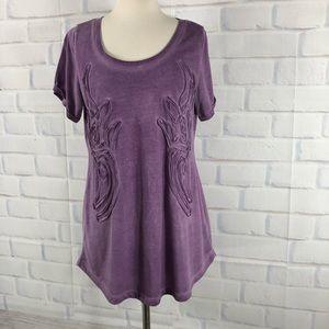 Soft Surroundings Purple Casual Tee